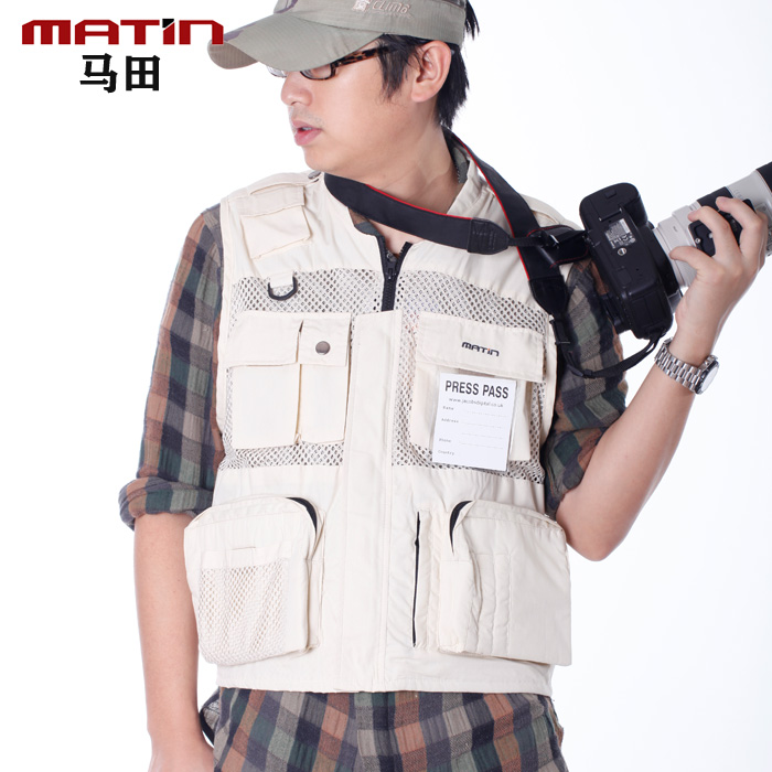Martin outdoor professional canon photography vest vest vest for men and women fishing sugan more mouth breathable mesh bag in the elderly