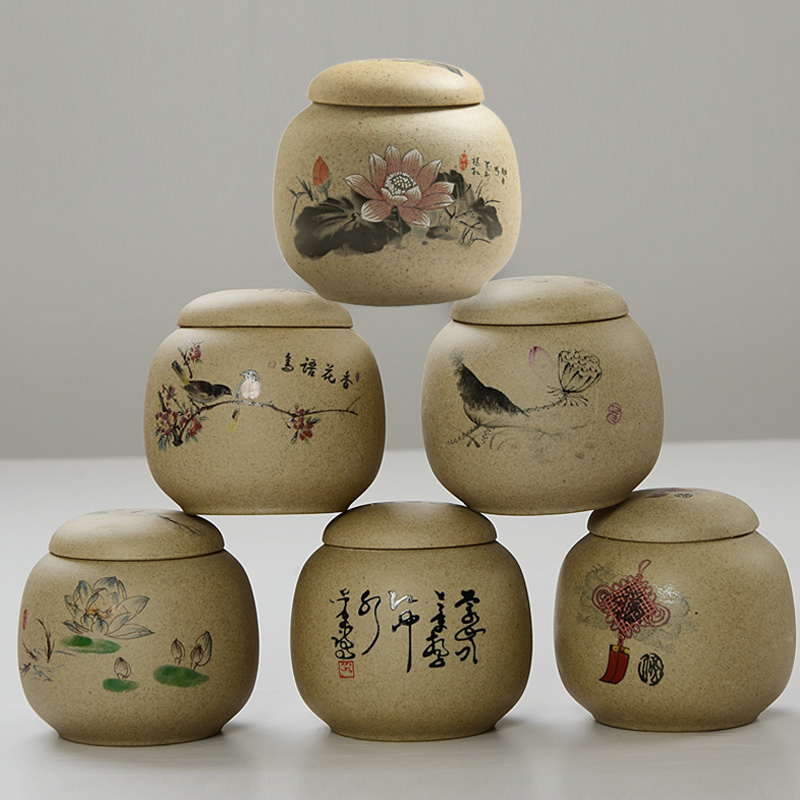 Masahiro earthenware ceramic stoneware canisters sealed cans wake chaguan mini color pu'er tea packaging cans