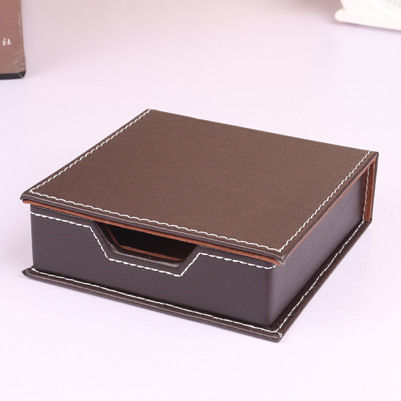Masaomi shipi leather notes box creative gifts cortex notes of the korean stationery note paper storage box