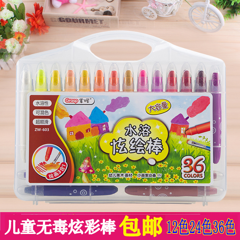 Master bulk water soluble colorful pastel sticks rotary crayon 603-12 color 24 color 36 color 48 color