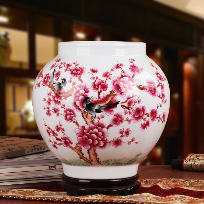 Masters yu jinxi luxury gift porcelain jingdezhen ceramic vase painted pastel beaming big pot