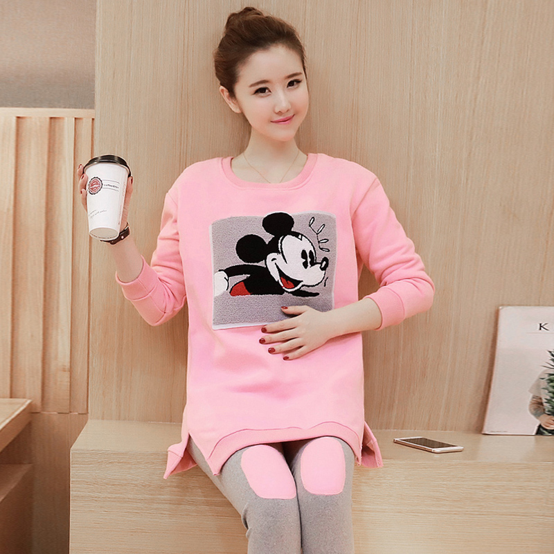 Maternity spring suit 2016 new korean version of loose fashion casual sports suit spring and autumn piece sweater
