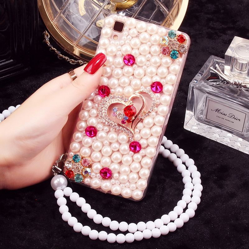Max phone shell mobile phone shell drill shell protective sleeve millet millet 5 diamond pearl millet lanyard n ote mobile phone sets women