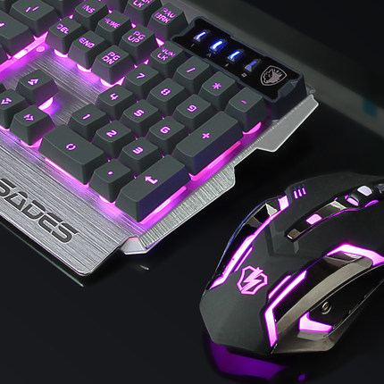 Mechanical keyboard and mouse set wrangler wired internet gaming mouse and keyboard freesia small intellectual miss peripherals store metal
