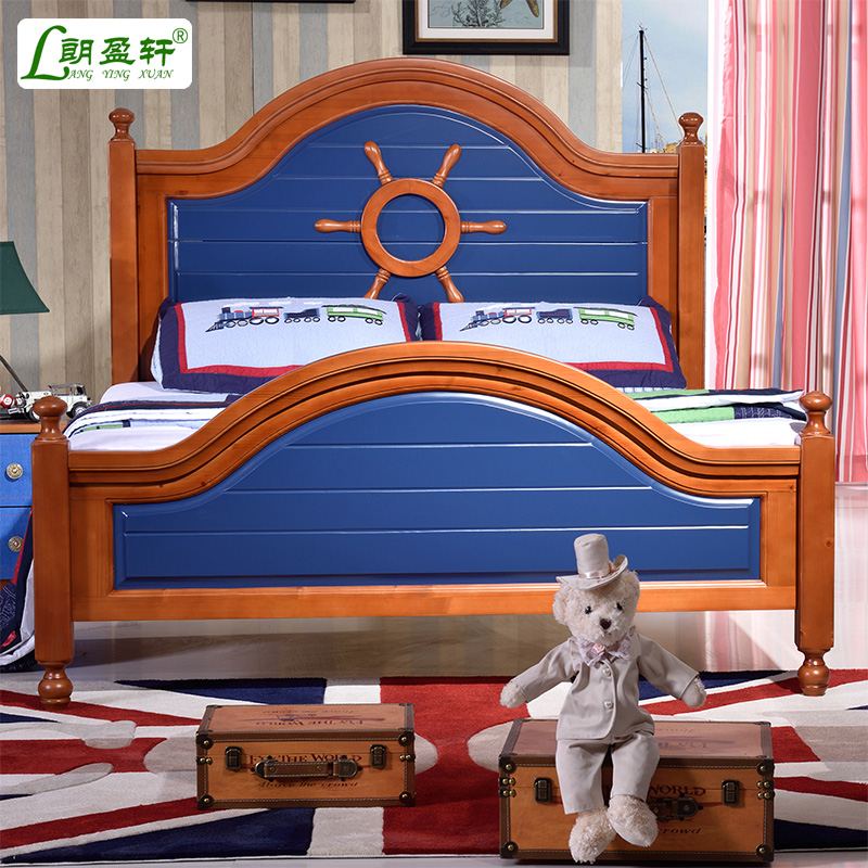 Mediterranean bed 1.5 m beds for children environmental children's bed boy bed children's furniture suite combination