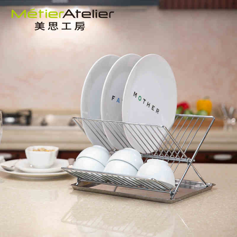 Mels kobo quality 304 stainless steel dish rack kitchen shelving rack drain kitchen supplies small pieces