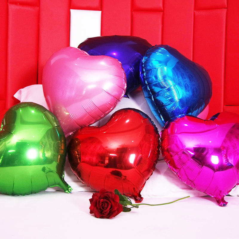 Mels well shaped aluminum balloons wedding marriage room decorated and furnished supplies 18 inch/10 love 18-inch aluminum foil