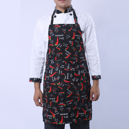 Men chef halter apron kitchen cooking apron apron water and oil repellency hotel cafe chef aprons