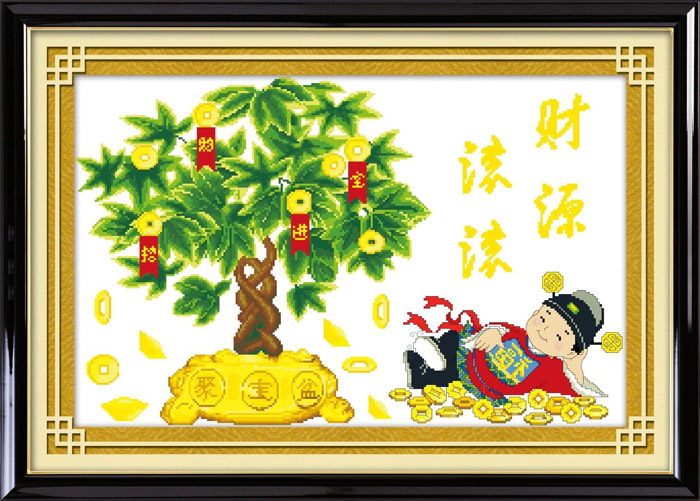 Meng qi extra cash zhaocaijinbao moneymaker treasurer precise printing stitch substantial new living room