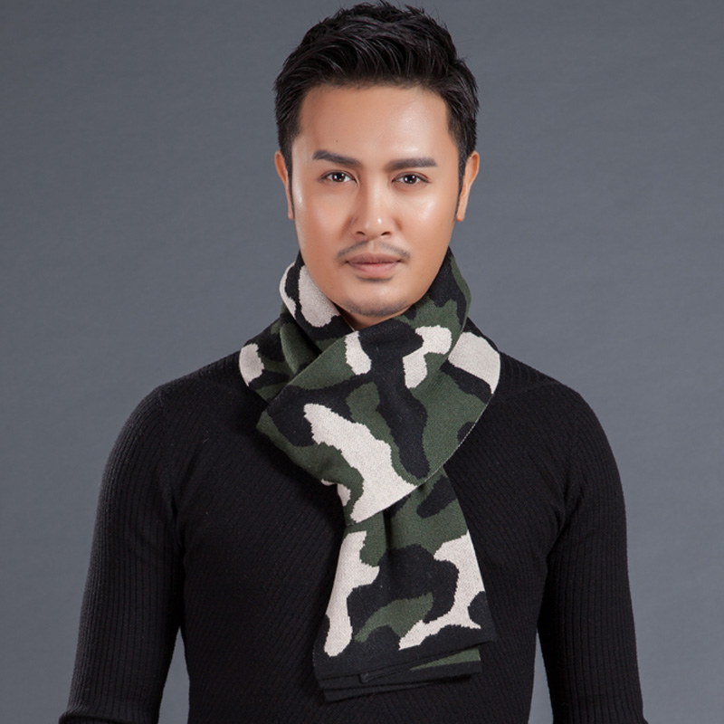Men's 2015 winter scarf wool scarves tide male korean version of camouflage thick warm cashmere scarf young people