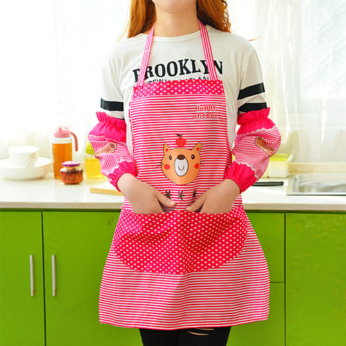 Men's custom home kitchen aprons korean fashion cute female tea shop cafe chef aprons aprons overalls