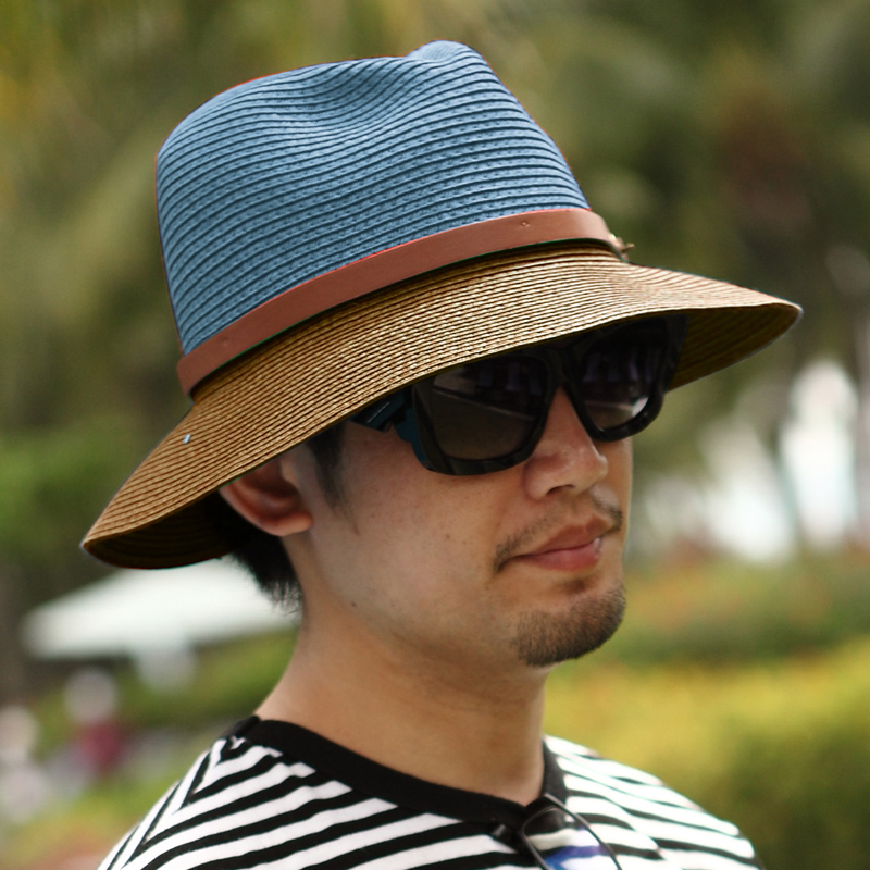 00d7b81e545d1 Get Quotations · ♪ Men s hat male korean tidal summer straw hat straw hat  sun hat beach