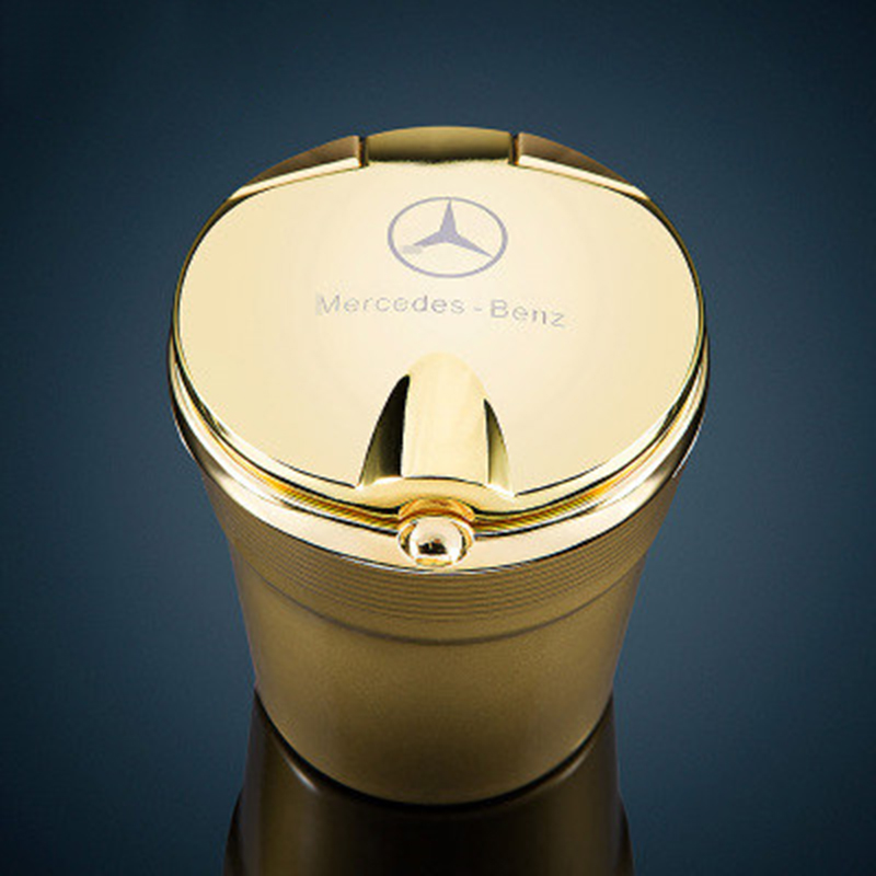Mercedes benz car carrier ashtray class c class e s class glk class ml class amg special metal lid led lights Creative