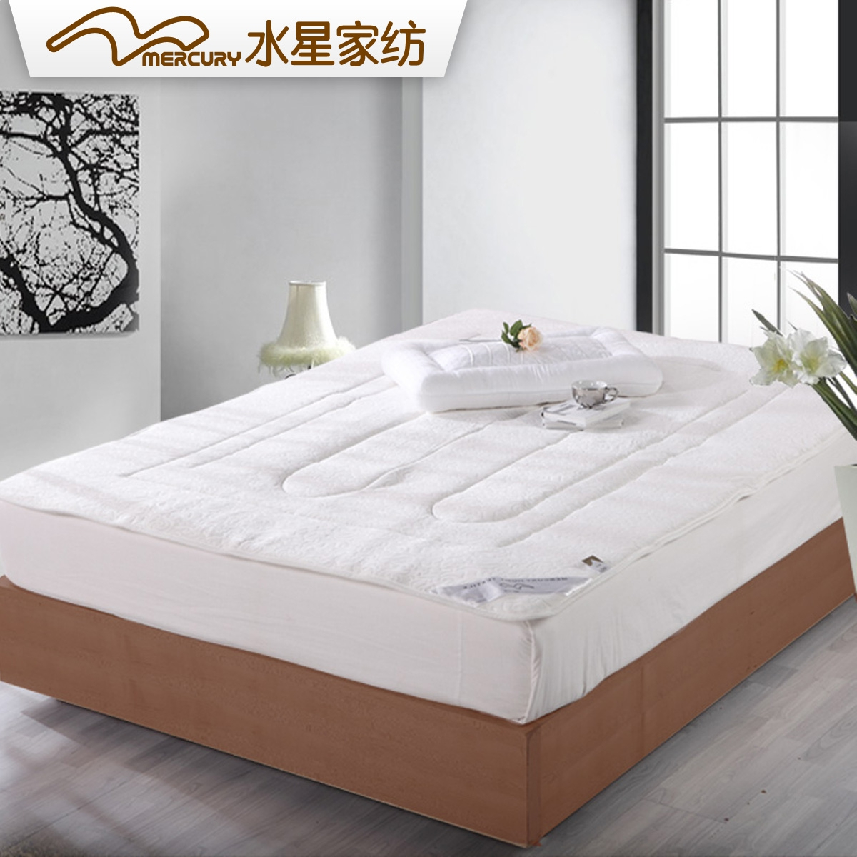 Mercury textile silk anion mattress double bed mattress bedding