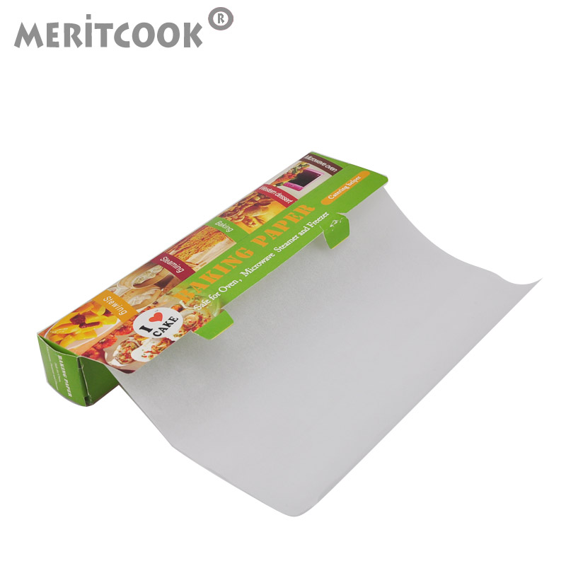 Meritcook baking paper 5 m thick high temperature greaseproof paper greaseproof paper butter paper silicone paper baking paper barbecue grill kitchen