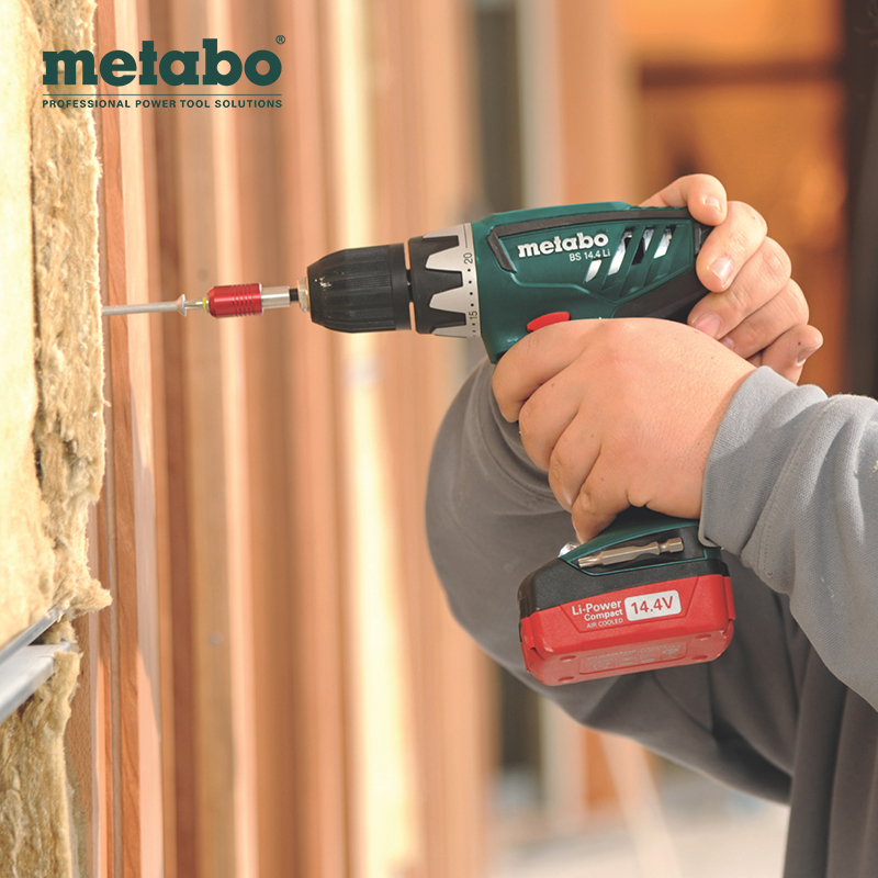 Metabo/metabo 14.4V rechargeable lithium tools hand drill reverse speed electric drill 10mm pistol drill
