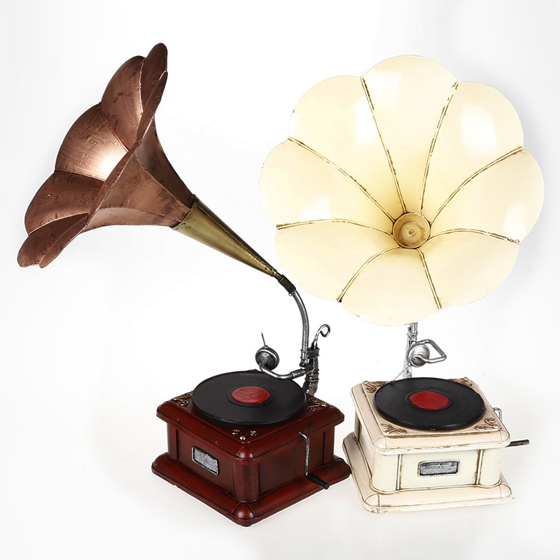 Mettle fine phonograph model two color handmade home accessories props window decoration