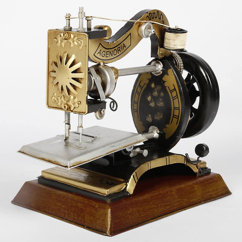 Mettle iron retro vintage sewing machine model home decoration ornaments photography props-7366