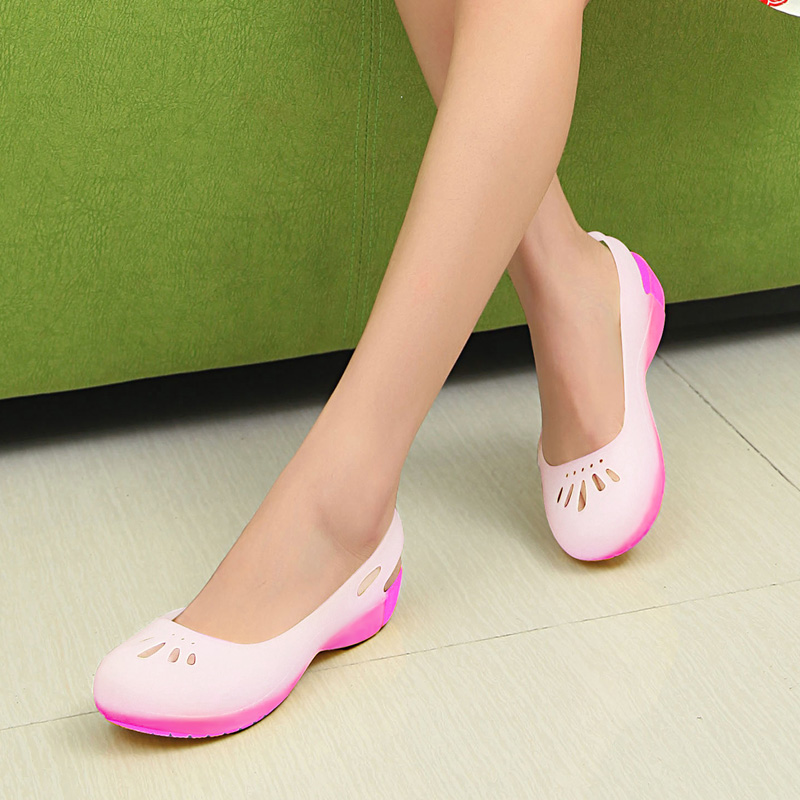 Mexican lanpu si ms. chromotropic us lindi hole shoes garden shoes jelly shoes summer green odorless