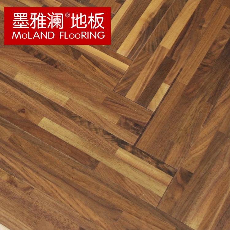 Mexican ya lan geothermal multilayer parquet wood flooring black walnut end custom spell the word