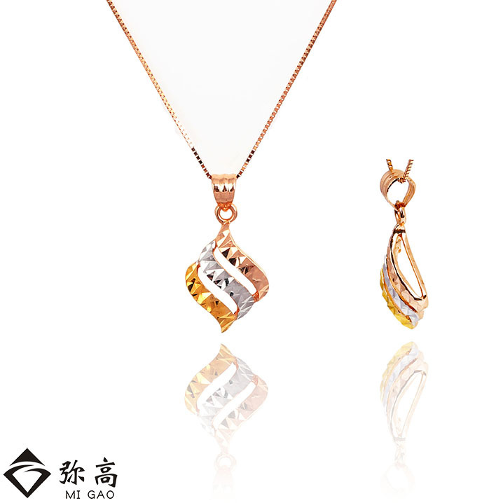 Mi high jewelry 18k-color gold car flower grain shaped pendant genuine brand new special factory to send his girlfriend