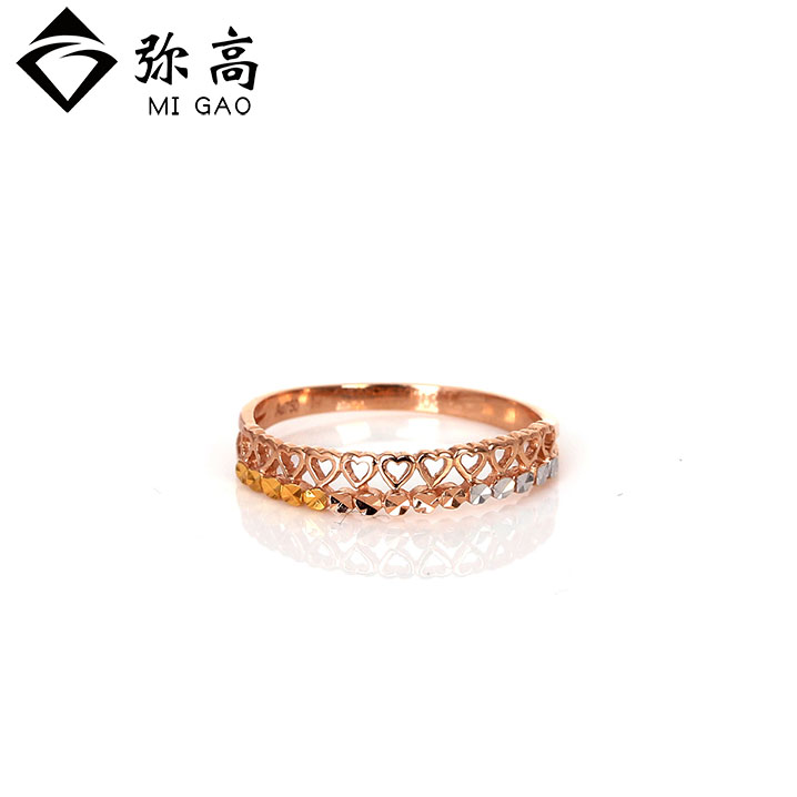 Mi high jewelry 18k-color gold solidarity and car flower ring brand genuine special offer free shipping