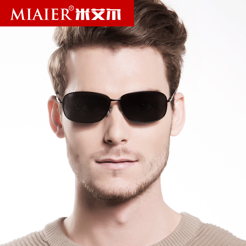 Miai er genuine new polarized sunglasses influx of people men sunglasses male driving mirror driver of sunglasses