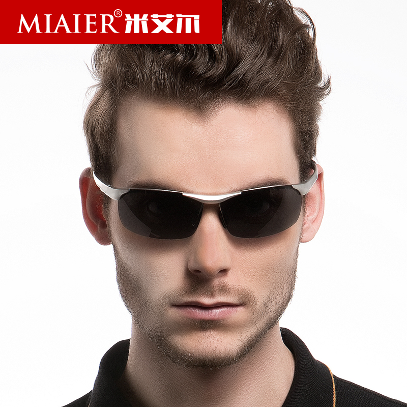 Miai er sports men polarized driving sunglasses men sunglasses male polarized sunglasses influx of people driving mirror sunglasses aluminum magnesium