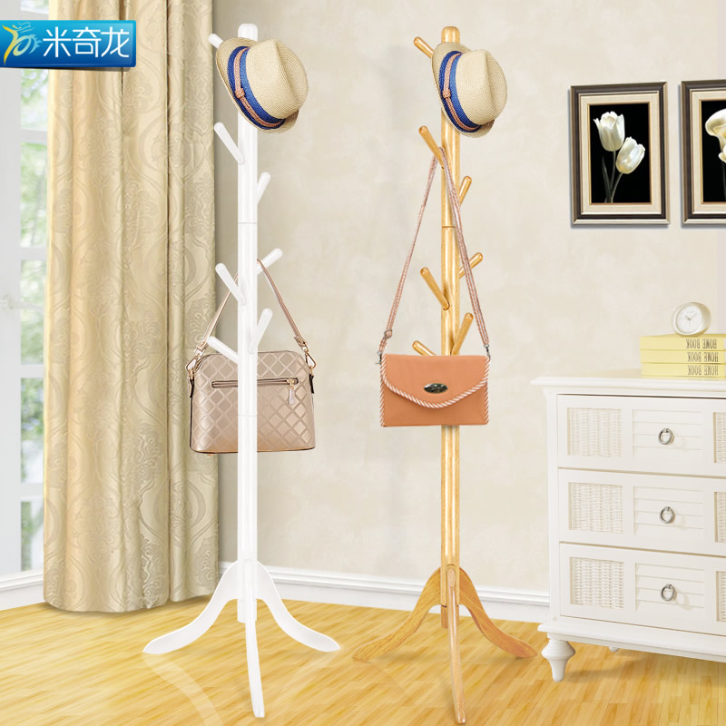 Mickey long solid wood floor coat rack hanger wood floor coat rack for hanging clothes hangers bedroom living room