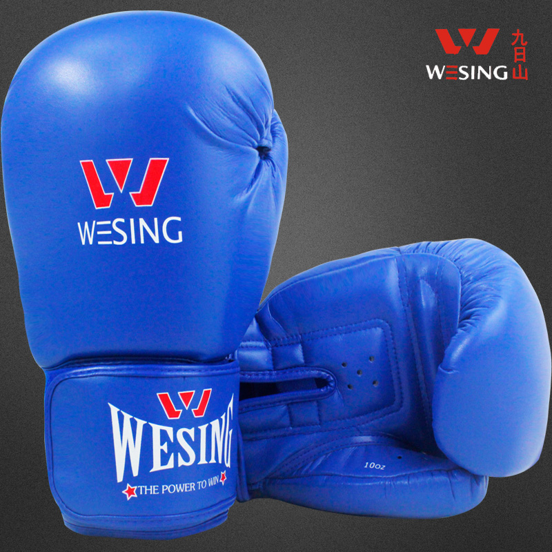 Microfiber leather men's adult boxing gloves sanda muay thai boxing game glove leather gloves