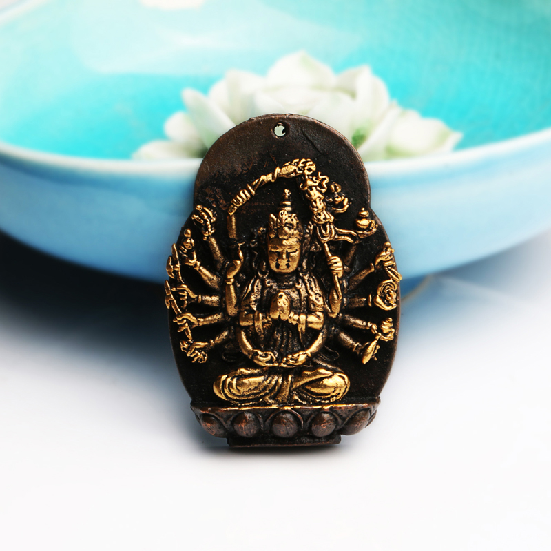 Mig liesl-gilt copper alloy brass pendant avalokitesvara bodhisattva amulet off metric beads accessories accessories