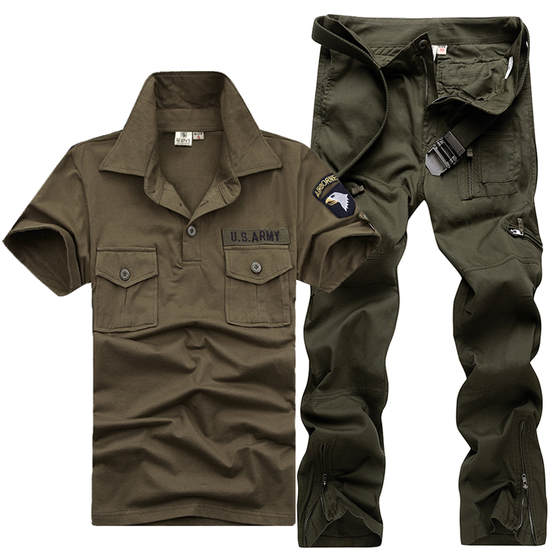 Military wild line of outdoor military fans dress clothes short sleeve summer sports suit special forces physical training clothes work clothes