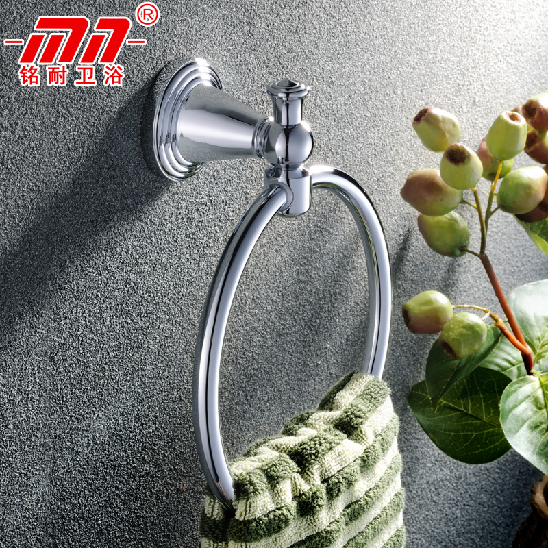 Ming resistant brand continental entire copper bathroom towel ring towel ring round all copper towel rack in bathroom full copper hook five pieces