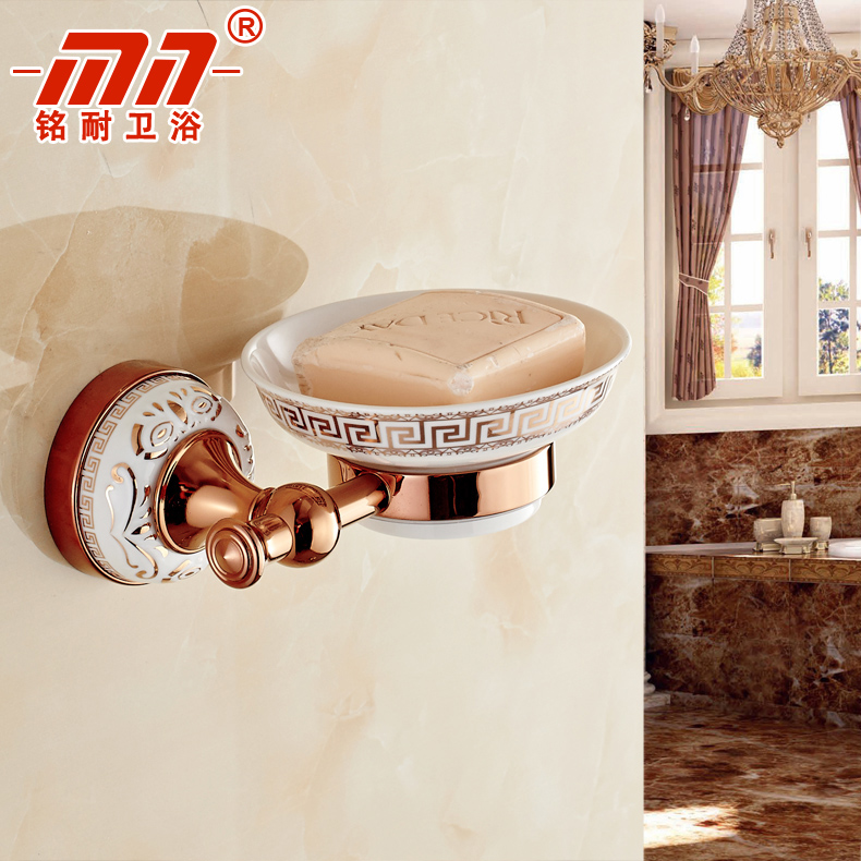 Ming resistant brand continental rose gold ceramic soap dish soap box bath soap holder soap dish soap dish glass dish