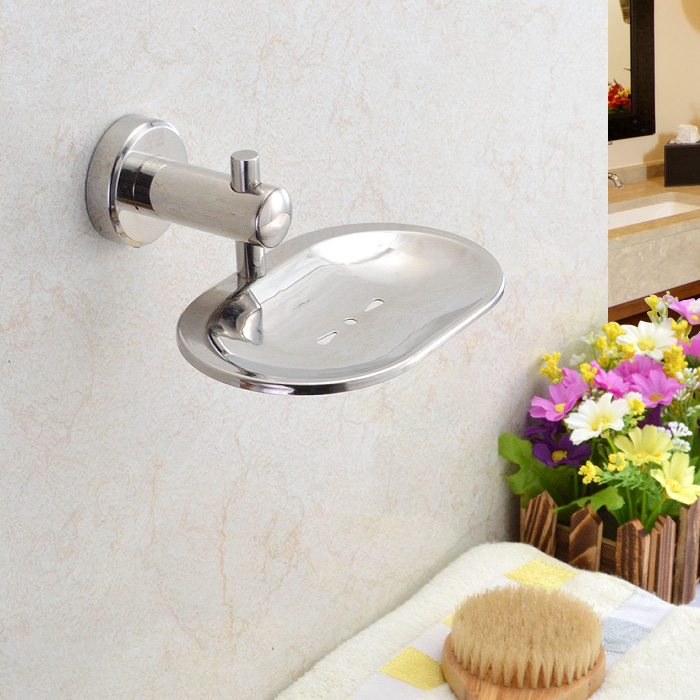 Mini house bathroom toilet 304 stainless steel soap box soap holder soap holder toilet soap network soapbox