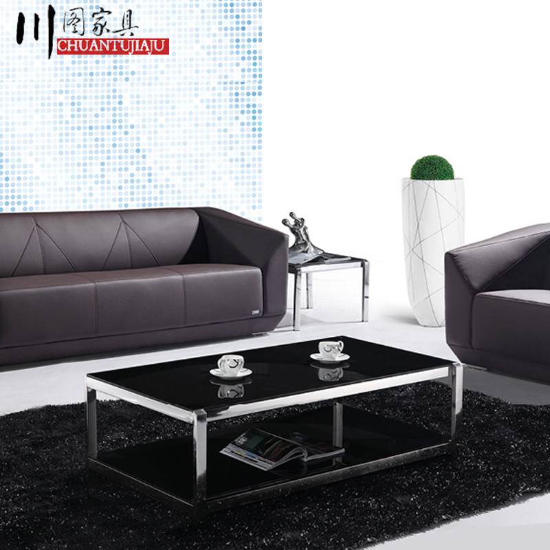 Minimalist modern creative office business and leisure parlor reception area herculite rectangular sofa table