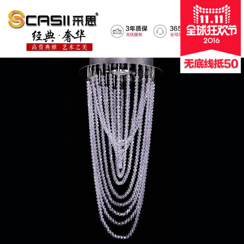 Mining si minimalist modern crystal ceiling lamp led crystal lamp lighting lamps aisle lights porch balcony