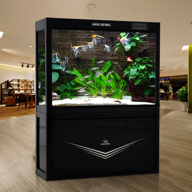 Minjiang medium-sized aquarium tank 1.2 m living room tv closed seawater aquarium fish tank at the bottom of the filter large 1.5 m