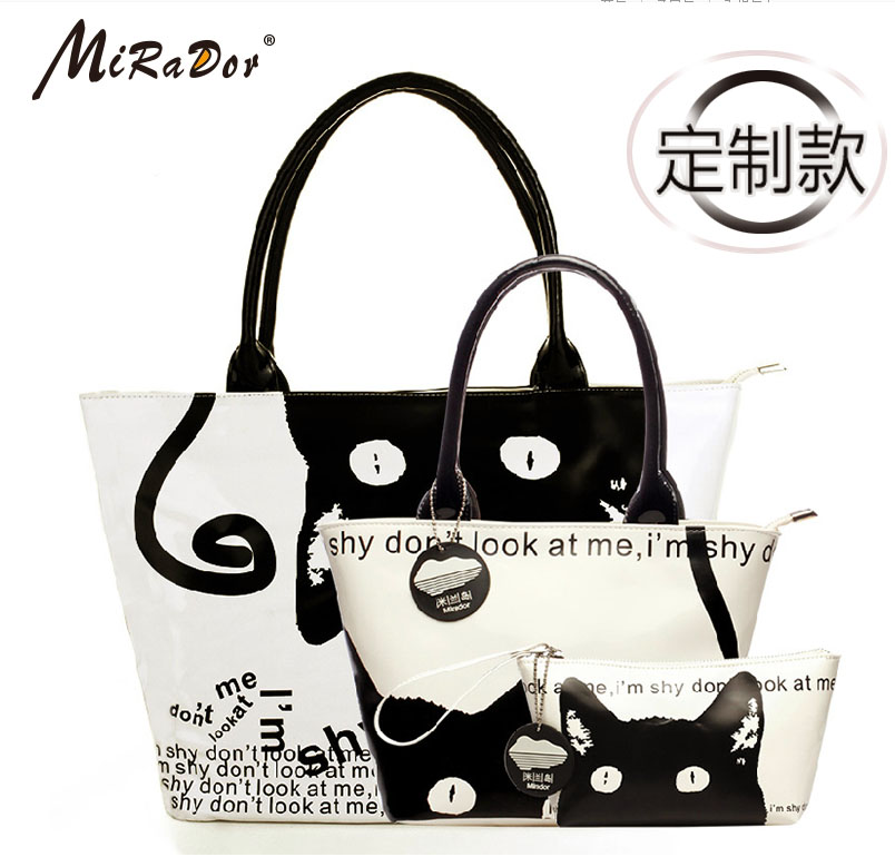 Mirador custom models new handbag ms. european and american fashion simple pu sets of printing single shoulder bag picture