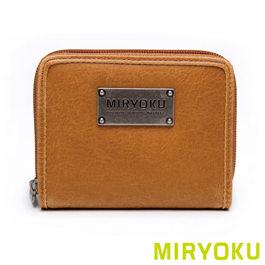 [Miryoku] retro leather series/retro purse bag zipper short clip payeasy official website direct mail