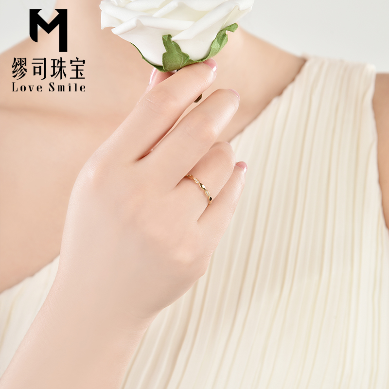 Miu'sinstruction division jewelry k gold platinum diamond ring wedding ring tail ring ring row row diamond ring nvjie counter genuine