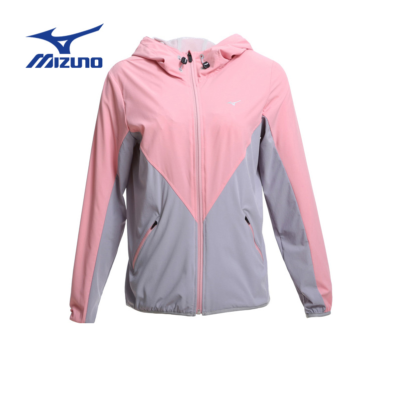 Mizuno/mizuno outdoor woven hooded jacket outdoor sportswear casual jacket woman jacket