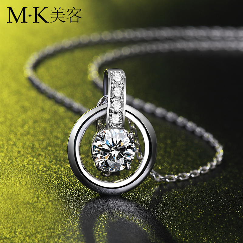 Mk swarovski zircon necklace female clavicle simple jewelry japan and south korea korean sweet pendant jewelry accessories