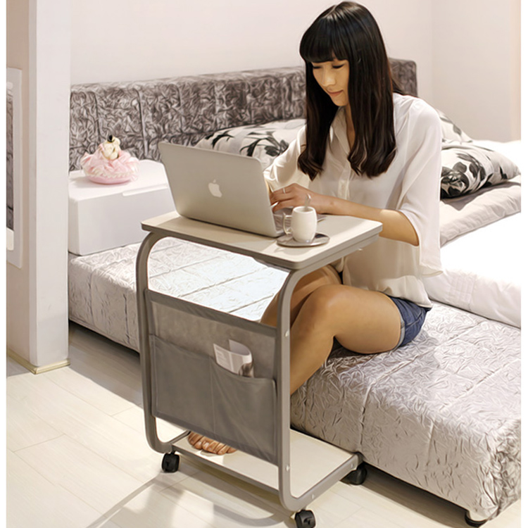 Get Quotations Mobile Home Computer Desk Laptop Table Bedside Tables Simple Small Minimalist Modern Steel Wooden