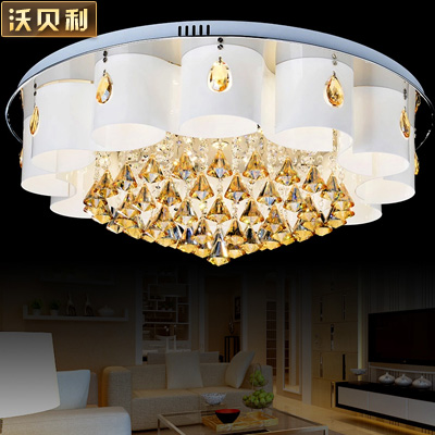 Modern art minimalist atmosphere living room lights fashion led crystal light circular living room bedroom ceiling lamps suck