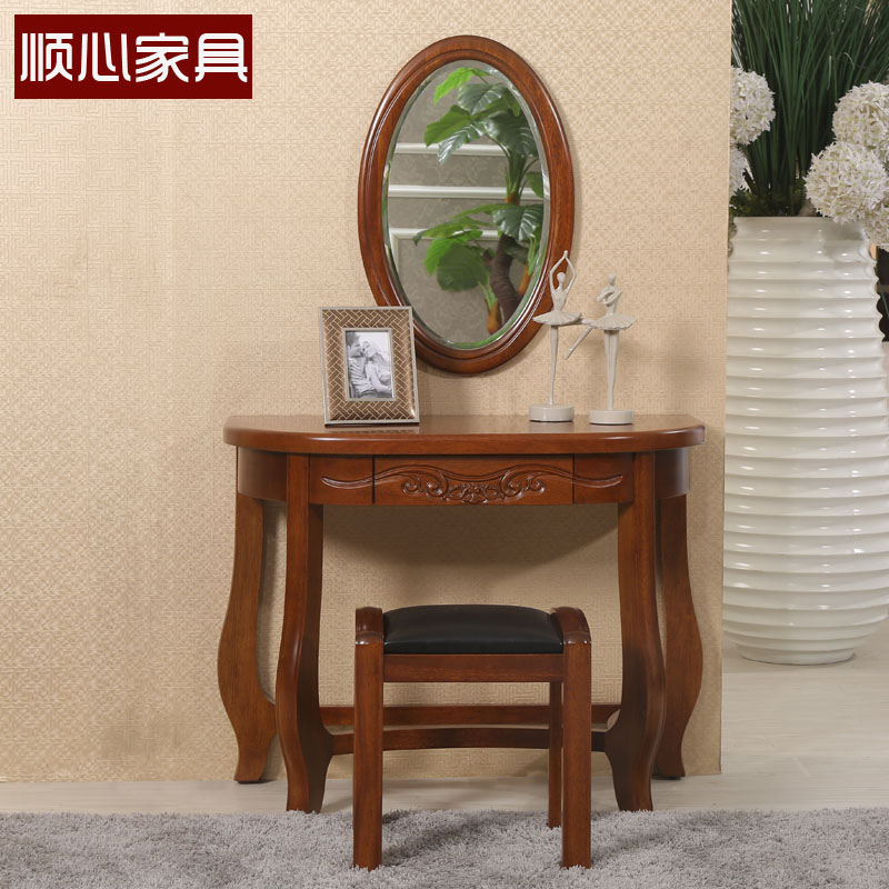 Modern Chinese Solid Wood Furniture Begonia Solid Wood Dresser Dressing  Table Dressing Table Dressing Table Mirror
