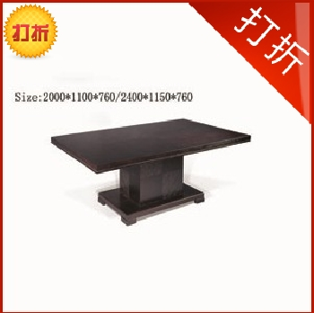 Modern clubhouse nordic style dining table solid wood dining table modern dining table long hk165