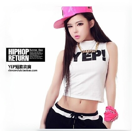 0daef707ad05 Get Quotations · Modern dance hip-hop jazz dance clothes dance clothes  practicing dance clothes costumes short paragraph