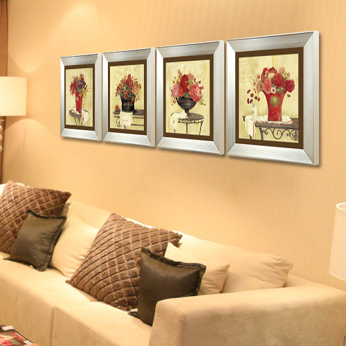 Modern decorative painting the living room mural painting decorative painting three-dimensional painting decorative painting modern european flower painting framed painting frame painting