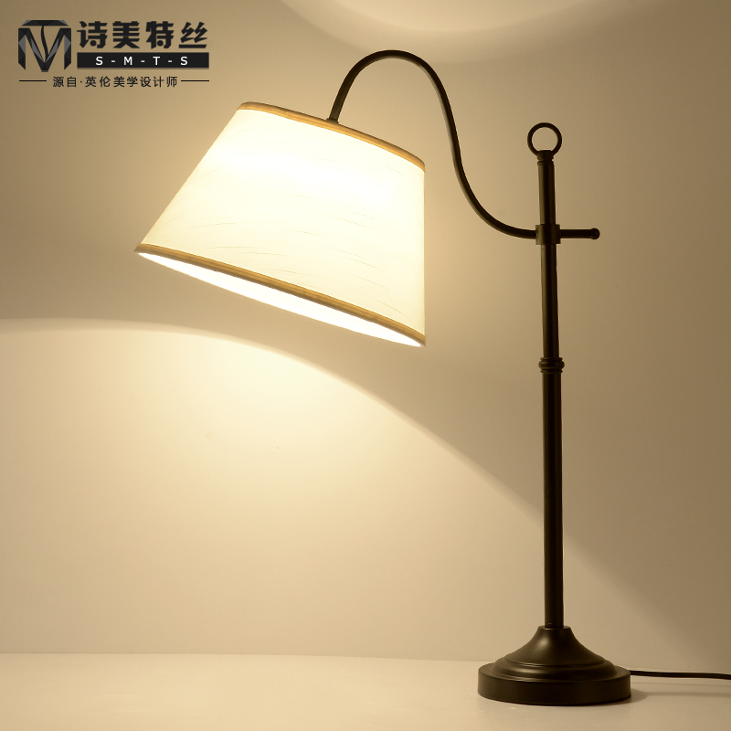 Modern minimalist fashion creative personality bedside lamp bedroom lamp ikea bedside lamp warm living room marriage